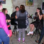 Friends gather to talk and dance at The Depot