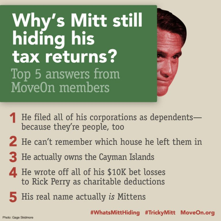 Why Mitt Romney Won't Release His Taxes