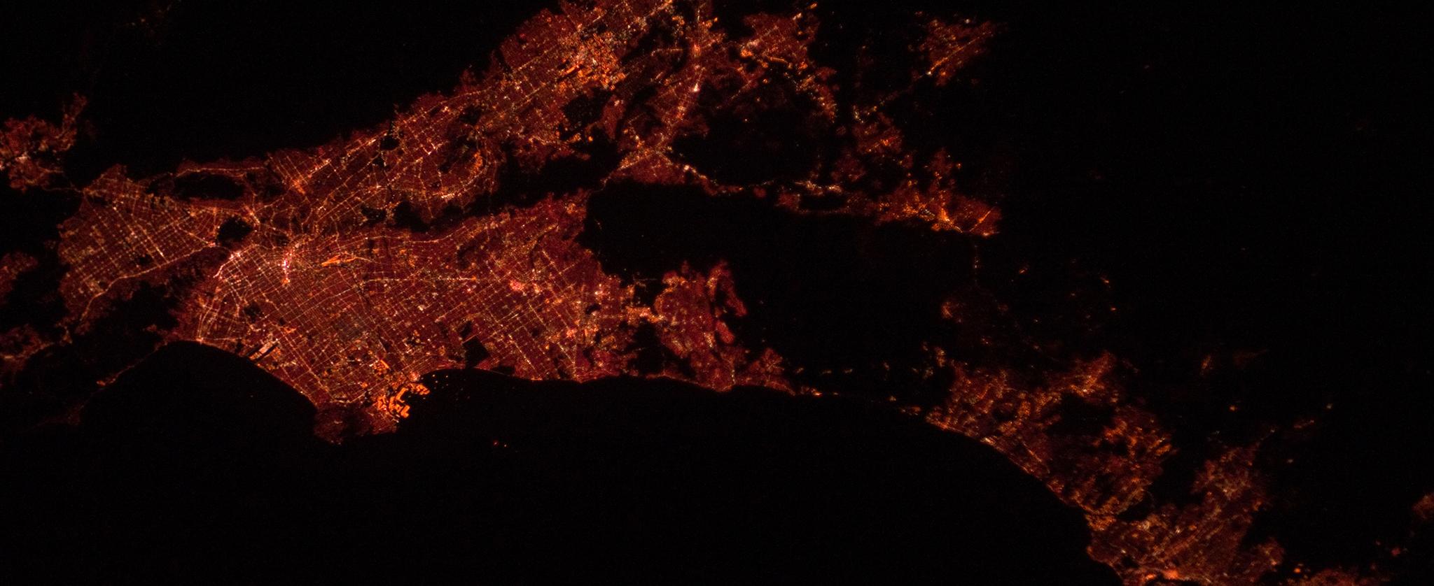 Los Angeles Area at Night from NASA's Marshall Space Flight Center