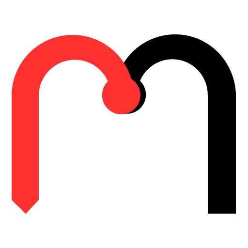 An image shows the Roger.Market site favicon, which is a combination of a letter r and a letter m, with the r laid over the left half of them m in red.