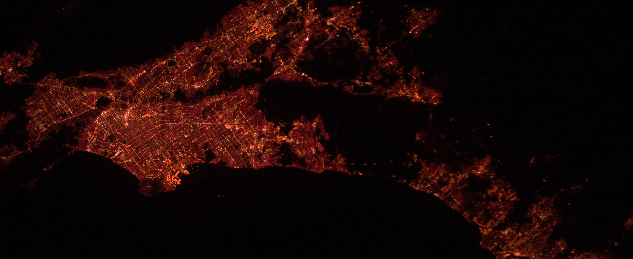 Los Angeles Area at Night from NASA's Marshall Space Flight Center